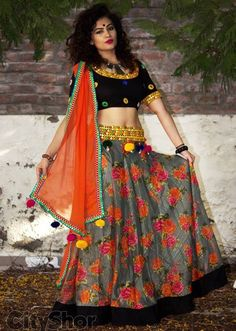 Flower Trend of Chaniya Choli