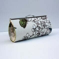 Clutch   Butterfly Linen Clutch with Birds by HelpandHold on Etsy, $45.00