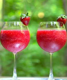 Get the recipe for Frosé (Frozen Rosé) Is the Hottest Drink of Summer.