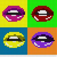 Pop_Art_Lips by MadAlice on Kandi Patterns