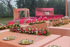 Wedding Decor - Shades of Pink Decor with Floral Arrangements | WedMeGood #wedmegood #wedding #decor #pink