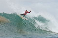 Larsen puts up big score.  Maui's Granger Larsen competes in the second round of the Billabong Pro JBay at Supertubes in Jeffreys Bay, South Africa, on Wednesday. Larsen won his round-of-96 heat with a two-wave score of 17.83.