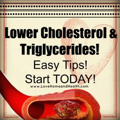 Lowering Cholesterol and Triglycerides is EASY to do with some simple diet and lifestyle changes! Easy tips you can start today to get your arteries movin'! Lower Cholesterol Naturally, What Causes High Cholesterol, Cholesterol Lowering Foods, Cholesterol Levels, Foods That Lower Triglycerides, High Fat Diet, Easy Diets, Way Of Life, Simple Diet
