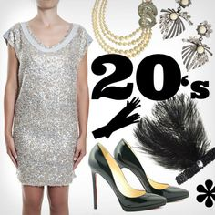 If you didn't choose yet the items for the post-Carnival's party, mix&match our dress with the pailettes and some vintage accessories to get a 20's look.  You can looking for the accessories online or into your granny's drawer.