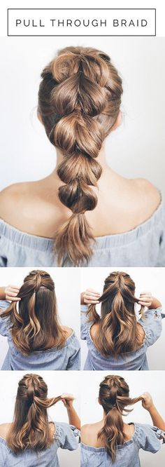 Hair Hair Styles for Hair – Beachy Waves, Hair Styles for Short Hair, Hair Lengths for Short Hair, Medium Length and Long Hair – Ponytails,. Braids Tutorial Easy, Short Hair Braids Tutorial, Diy Braids, Prom Hair Tutorial, Ponytail Tutorial, Updo Diy, Faux Braids, Thick Hair Styles Medium, Medium Lengths