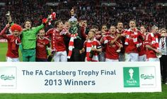 Wrexham celebrate at Wembley