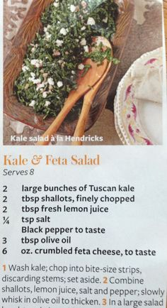 Kale salad with goat cheese and shallots