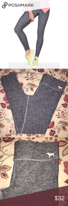 VS PINK | Gray Marled Ultimate Yoga Leggings 🌺Gray marled classic Ultimate Yoga Leggings                                                    🌺Full length pants, Hidden pocket in waistband                                                                   🌺Same style/fit as shown in first pic, just without the stripe 🌺Great used condition, only worn a few times                         Questions? Just ask!  BUNDLE & SAVE: 15% OFF 2+ ITEMS! PINK Victoria's Secret Pants Leggings