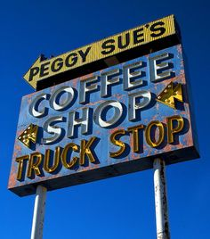 Neon Sign Peggy Sues Coffee Shop by SignsAcrossAmerica on Etsy