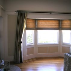 Light Is Easily Controlled With This Layered Treatment In A Shallow Bay  Window. The Crisp
