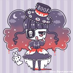 Have something to contribute for Japan Lover Me for our Spooky / Halloween Month? It could be a fashion coordinate, creative nail art, drawing of an outfit. Kawaii Chibi, Kawaii Art, Kawaii Stuff, Kawaii Things, Hipster Wallpaper, Kawaii Wallpaper, Halloween In Japan, Voodoo Doll Tattoo, Gothic Fantasy Art