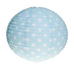 https://www.sassandbelle.co.uk/Polka Dot Paper Lampshade - Blue