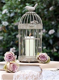 Birdcage Lantern  We have many available for you to rent at FTV so we can help you create this look yourself!