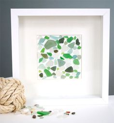 I have a bunch of sea glass and tiles I found on a beach in Positano, Italy. Something like this would be perfect!