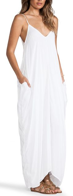 Simple Flow Maxi iN White