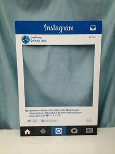 DIY Instagram Frames | 12 DIY Selfie Ideas to Up Your Selfie Game, check it out at http://diyready.com/12-diy-selfie-ideas-to-up-your-selfie-game