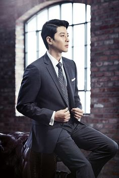 Kim Hyun Joong ♡ SS501 FOR LEE DONG GUN IN A SUIT IN BROOKS BROTHERS AD