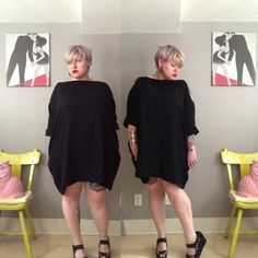 Margot Meanie, and the myth of the plus size big black dress
