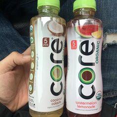 """Bring some life to your body"" #corewater #organic #flavors #coconut #strawberry #lemonade #nongmo #vegan #heaven #ph #acidic #health #goodvibes #lifeisgood"