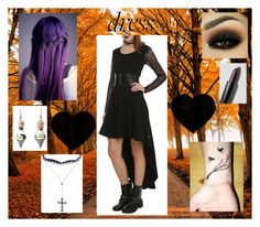 """Untitled #154"" by unicorn1233 ❤ liked on Polyvore featuring Tripp, NYX and INDIE HAIR"