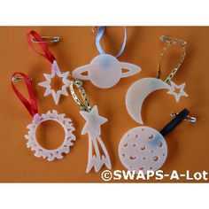 out of this world glow in dark swaps - perfect for our space theme day camp