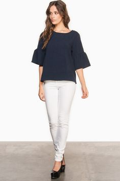 Cecily Blouse in Navy / ShopSosie