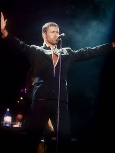 George Michael on stage at the Rock in Rio in 1991.