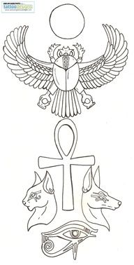 Third eye, scarab, ankh, bestet, Anubis and ra  - already have the ankh just  need to get  the rest