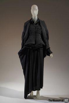 Suit | Designer: Yohji Yamamoto (born 1943) | Japan, Fall 2006 | Black silk crêpe | The Museum at FIT