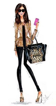 Fashionista in illustration Foto Fashion, Fashion Art, Girl Fashion, Womens Fashion, Fashion Design, Fashion Clothes, Mode Chanel, Modelos Fashion, Illustration Mode