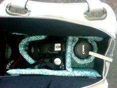 DIY purse to camera bag.