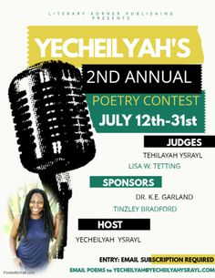 Yecheilyah's 2nd Annual Poetry Contest 2018: Rules, Guidelines, Entrance and Prizes – Rebirth of Lisa