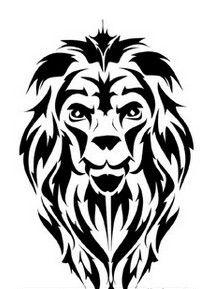 14 Best Tribal Lion Tattoo Stencils Images Tribal Lion