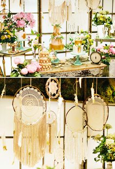 Whimsical & Boho Chic Dreamcatcher First Birthday/baby shower idea **LOVE it.garden-y whimsical boho chic dreamy. so torn between this style vs sparkles/princess-y/pearls, etc‏ Baby Party, Baby Shower Parties, Baby Shower Themes, Baby Showers, Shower Ideas, Baby First Birthday, First Birthday Parties, First Birthdays, 16th Birthday