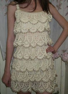 Vestido ganchillo blanco DIY patrones gratis Tutorial  Free + Crochet + Patterns + to + Print  | Free Crochet Graph Patterns