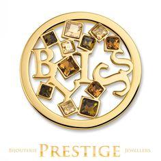 MI-MONEDA BLISS STAINLESS STEEL ONE SIDED COIN - LARGE - Bijouterie Prestige