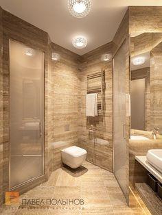 Фото интерьер санузла из проекта «Дизайн интерьера трехкомнатной квартиры 127 кв.м., ЖК «Парадный квартал», современный стиль»