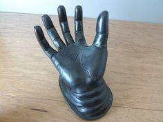 Halloween Black Resin Man's Hand Display by austinbaubles on Etsy, $30.00