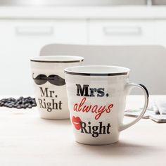 Mr. Right & Mrs. Always Right Mugs