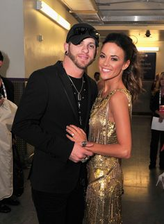 Brantley Gilbert & Jana Kramer, LAS VEGAS, NV - APRIL 07: Musicians Brantley Gilbert and Jana Kramer backstage during the 48th Annual Academy Of Country Music Awards - ACM Fan Jam at Orelans Arena on April 7, 2013 in Las Vegas, Nevada. (Photo by Jerod Harris/ACMA2013/Getty Images for ACM), 2013 Awards