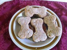 Peanut Butter Banana Oatmeal Dog Treats