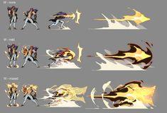 (3) Media Tweets by Requin Cobalt \\ !! CLOOOOOOOOOOOOOOOOOSE !! // (@cobalt_requin) / Twitter Fantasy Character Design, Character Design Inspiration, Character Concept, Character Art, Fighting Drawing, Magic Design, Anime Poses Reference, Weapon Concept Art, Cool Animations