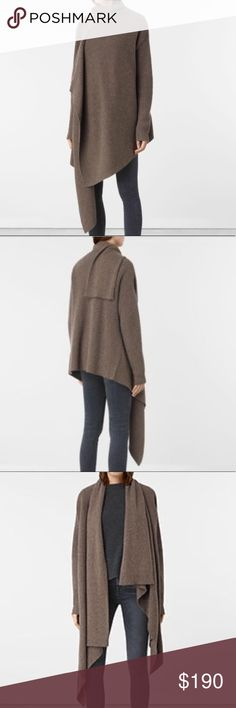 All Saints Lori Cardigan S/M and M/L Wool/cashmere blend. New with tags. No pilling on sweater.  Perfect to use as a coat as well on fall/spring days. All Saints Sweaters Cardigans