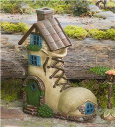 Miniature Fairy Garden Boot Home