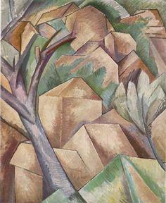 Georges Braque (1882-1963 ) In de Eerste Wereldoorlog raakte Braque gewond. Omdat zijn vader huisschilder was volgde ook Georges in eerste instantie een opleiding tot huisschilder, maar later ging hij toch naar de Academie voor Schone Kunsten in Parijs. In 1908 vond Braque aansluiting bij de kunstenaarsbeweging Les Fauves. In Antwerpen schilderde Braque scènes van de haven. Vanaf ongeveer 1939 ging Braque ook beeldhouwen.