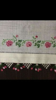 This Pin was discovered by Gül Cross Stitch Boarders, Cross Stitch Rose, Cross Stitch Charts, Cross Stitch Designs, Cross Stitch Patterns, Embroidery Needles, Cross Stitch Embroidery, Hand Embroidery, Bargello