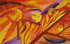 #seacorc Sunsets - Oil Pastel seacorc