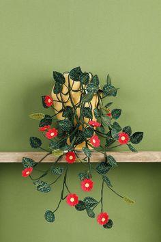 Leuke zelfgemaakte hangplant   borduren editie 75-2021
