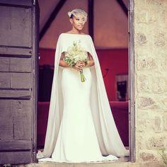 Bridal cape shoulder cover