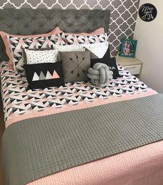 Grey Bedroom Decor, Room Design Bedroom, Teen Room Decor, Girl Bedroom Designs, Stylish Bedroom, Room Ideas Bedroom, Girls Bedroom, Pink Room, Dream Home Design